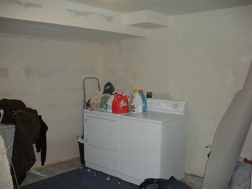 Laundry Wall Before