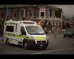 Ambulance crew (bkiwik) Tags: newzealand christchurch rescue demolish bricks ruin demolition canterbury ambulance nz carnage cbd richter aotearoa destroyed rubble rescued devastation ruined destroy seismic aftershock aftershocks liquifaction christchurchearthquake canterburyearthquake