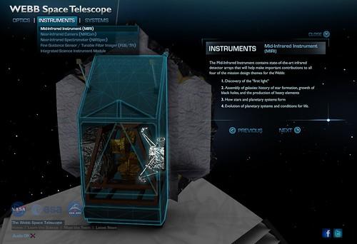 JWST 3D Interactive