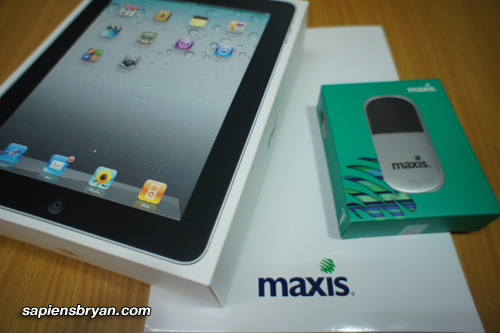 Apple iPad 16GB (3G+WiFi) & Maxis WiFi Modem
