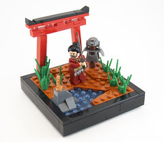 (Titolian) Tags: 3 japan japanese gate lego armor sword warrior series samurai collectible minifigs katana
