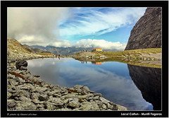 Caltun Lake and Refuge ( Eduard Wichner) Tags: wood autumn panorama lake sports nature station weather forest trekking landscape photography woods scenery view outdoor hiking lac peak pic romania mountaineering munti vf meteo carpati alpin munte fagaras balea transfagarasan padure tarcu statie altitudine varful traseu poteca