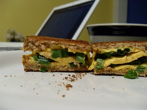 Cheddar-Scallion Panini