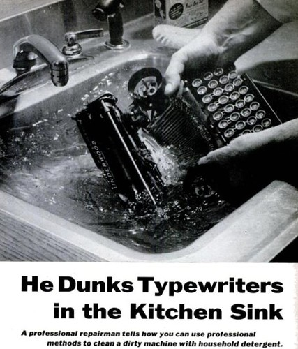 Clean Typewriter Pop Sci Feb 1957