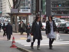still cold 三寒四温 (kasa51) Tags: street city people lumix 50mm f14 panasonic gf1 nikkorsauto