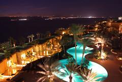 Kempinski Hotel Ishtar @ Dead Sea (Ghadeer Q) Tags: longexposure nightphotography travel water pool canon landscape hotel middleeast deadsea topview slowshutterspeed canon1740 kingdomofjordan kempinskihotelishtar  ghadeerq