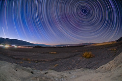 Death Valley Star Trails (Harold Davis) Tags: stars harolddavis sca deathvalley startrails furnacecreek earthandspace Astrometrydotnet:status=failed competition:astrophoto=2011 Astrometrydotnet:id=alpha20110381723249