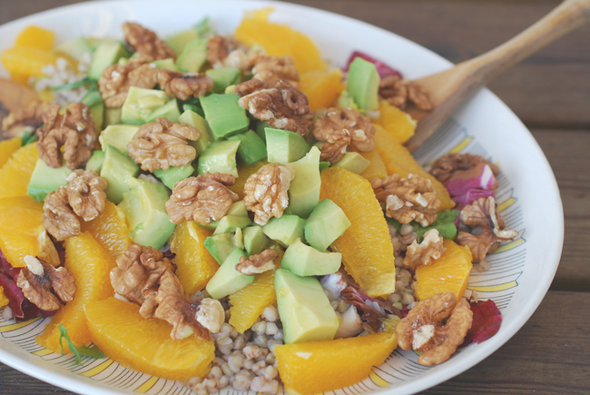 salad with orange and walnuts