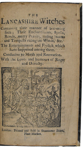 Title page of The Lancashire witches
