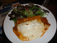 Tesco beef cannelloni & lettuce