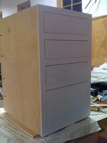 cabinet on the workbench