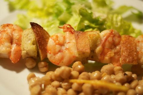 Shrimp skewers, Caesar-style
