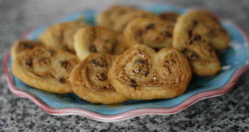 Peanut Butter Chocolate Palmiers (aka Elephant Ears)
