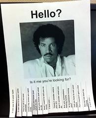Hello, Lionel