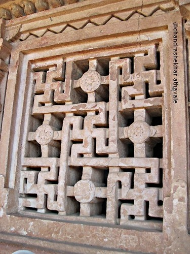 Window lattice Durg temple