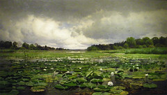 The Lily Pond (Maia C) Tags: kodakz1015 kodakeasysharez1015is maiac dia detroitinstituteofarts museum painting charlesharryeaton comment waterlily