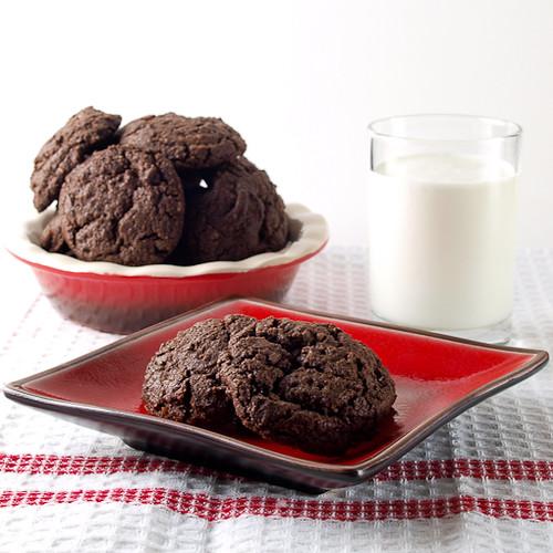 Double Dark Chocolate Chunk Coconut Cookies