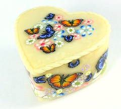 Heart Shaped Butterfly Keepsake Box