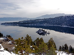 i tahoe u (yshister) Tags: california lake snow mountains water island drive march tahoe laketahoe emeraldbay 5photosaday
