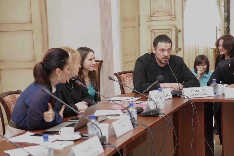 Максим Шевченко беседует с Тиной Канделаки
