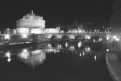 Castel Sant'Angelo at Night (p medved) Tags: italien bridge bw italy rome roma reflection castle night river puente noche blackwhite italia fiume ponte most tiber tevere rim itali rom notte bianconero adriano castelsantangelo rijeka jadran rooma pvt italya reka itaalia riflessione rzym wochy itlie italija hadriansmausoleum olaszorszg refexion m italiya rom italijo