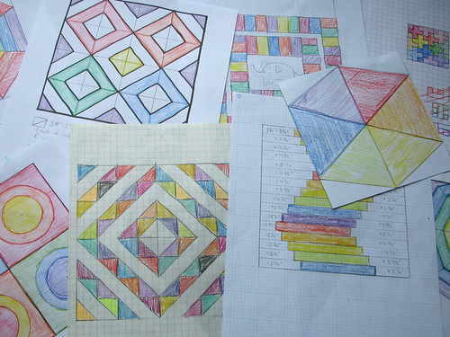 Designing Quilt Blocks - old school