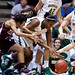 Sydney Carter #4, Destiny Williams #10, Brittney Griner #42, Melissa Jones #5, Maryann Baker #15.