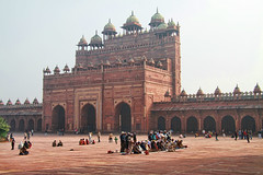 Morning Prayers (cmac66) Tags: india muslim islam praying fatehpursikri agra muslims jamamasjid muslimculture namaaz frozenmotion jamamasjidfatehpursikri cameronmacmaster froznmotion