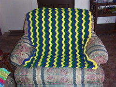 Yellow and Blue Make Green Lapghan