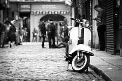 Vespa (Gerg) Tags: street dublin white black bar canon temple hotel vespa 500d 150mm