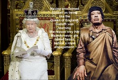 Queen and Gadaffi
