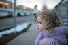 Watching (nateOne) Tags: train 35mm hair toddler walk coat watching lavender sidewalk curly schnivic dottie 35mmf14 iso450 nikond700 1100secatf14 focusdistance710mm