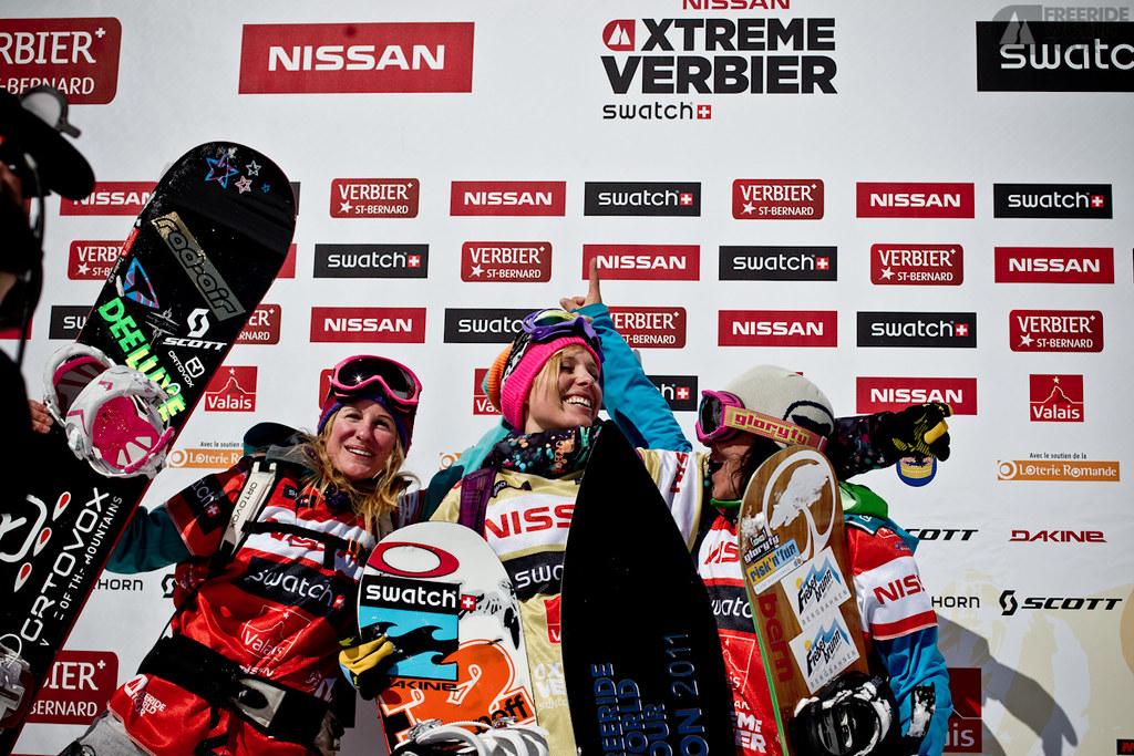 Podium Snowboard Women - Photo J.Bernard - Event Nissan Xtreme Verbier 2011 by Swatch.jpg