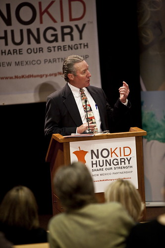FNS Southwest Regional Administrator Bill Ludwig spoke at the press conference announcing the launch of Share Our Strength's No Kid Hungry initiative in New Mexico on February 25. (Photo from Share Our Strength)