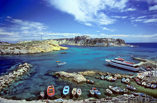 Tremiti Islands - Harbour of San Domino, view of San Nicola - Copyright by Martin Liebermann