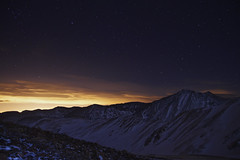 A Special Thanks to Light Polution (Zach Dischner) Tags: winter light mountain mountains cold silhouette night canon painting eos cool colorado peak 7d 14er polution torrys canon7d