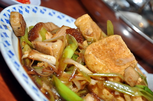 Restaurant LYJ Stir fried Beancurd Roasted Pork and Spring Onion