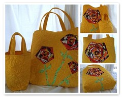 Mosiac of Spinning Sprial Flower Bag  and Reflection Bag