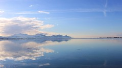 IMG_0025A (taffro) Tags: winter panorama mountains reflection nature clouds seasky
