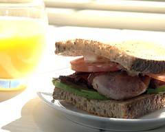 The Breakfast of Champions (ICT_photo) Tags: orange breakfast tomato bacon juice sandwich brunch mayo avacado ictphoto ianthomasguelphontario