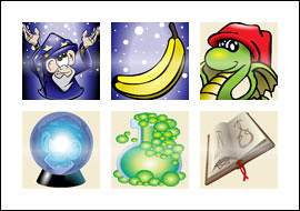 free Magic Monkey slot game symbols