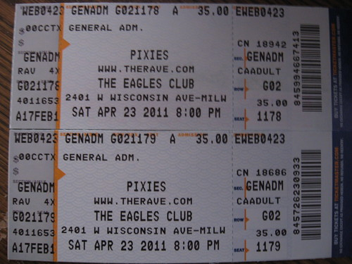 Pixies Milwaukee 4/23/2011 by mbigmistake