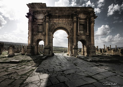 The arch of Trajan - Timgad, Algeria (zedamnabil) Tags: voyage travel roma architecture algeria ruins