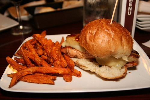 Don Ho Burger with Salmon at Elbow Room