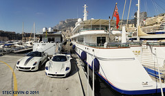 What a difference a day makes (Kyter MC) Tags: blue panorama ice port canon photography eos la automobile europe cotedazur ks automotive ferrari montecarlo monaco mc 7d gto sk 12 yachts supercar mc12 maserati spotting supercars yachting frenchriviera carspotting 599 turbie siran kyter carsighting