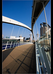 Across.... Explored.....apparently! (Chrisconphoto) Tags: bridge canon manchester angle sigma salfordquays across 1020 lowry chrisconway