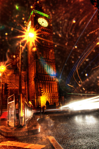 Illuminated London – The Rain City by Sprengben [why not get a friend], on Flickr