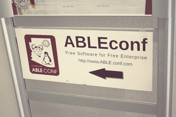 DITL 16: ABLEconf sign