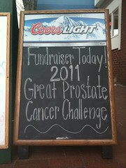 Great Prostate Cancer Challenge Fundraiser Sign