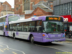 NCT YN07EYC 517 lilac line (martin 65) Tags: road city nottingham uk bus buses transport line lilac nottinghamshire scania 517 omnicity